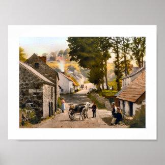 Glenoe Village, County Antrim, Ireland Poster