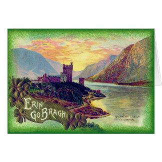 Glenveigh Castle Donegal Gold Shamrock Card