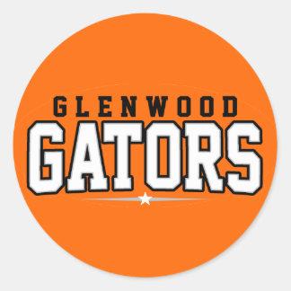 Glenwood High School; Gators Round Stickers