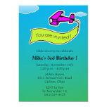 Glider -Birthday Party Invitation 13 Cm X 18 Cm Invitation Card