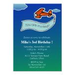 Glider -Birthday Party Invitation-2 13 Cm X 18 Cm Invitation Card
