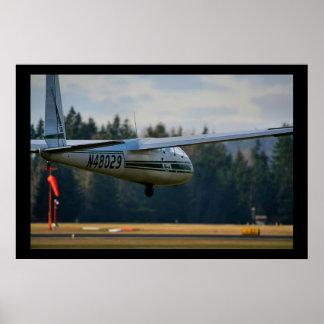 Glider Landing Poster