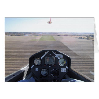 Glider on final approach card