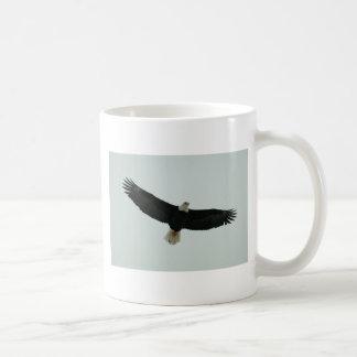 Gliding bald eagle coffee mug