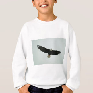 Gliding bald eagle sweatshirt