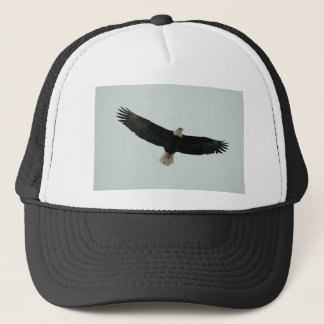 Gliding bald eagle trucker hat