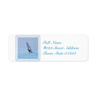 Gliding Windsurfer Return Address Label