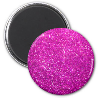 Glimmer Purple Shiny 6 Cm Round Magnet