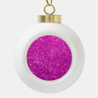 Glimmer Purple Shiny Ceramic Ball Decoration