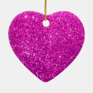 Glimmer Purple Shiny Ceramic Heart Decoration