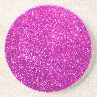 Glimmer Purple Shiny Drink Coaster