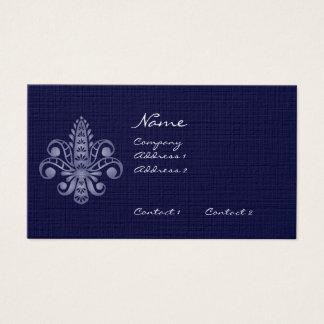 Glimmericks Fleur de Lis Business Card