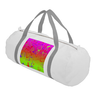 glimmering abstract gym duffel bag