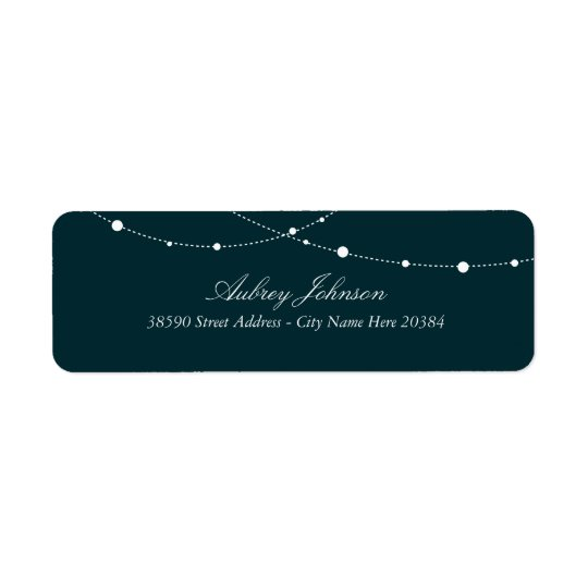 Glimmering Lights Return Address Labels