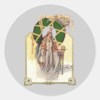 Glinda, Dorothy & Ozma Classic Round Sticker