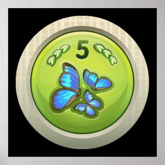 Glitch: achievement butterfly attendant print