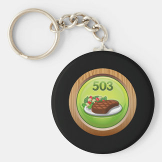 Glitch Achievement noted epicure Basic Round Button Key Ring