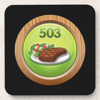 Glitch Achievement noted epicure Drink Coasters