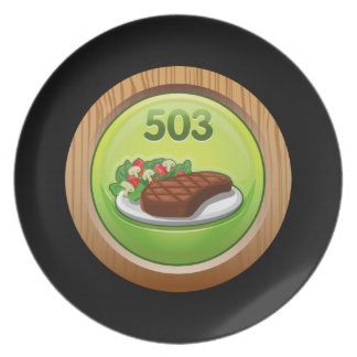 Glitch Achievement noted epicure Party Plate