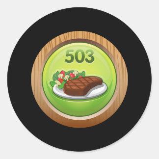 Glitch Achievement noted epicure Round Sticker