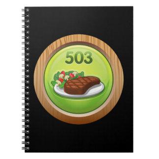 Glitch Achievement noted epicure Spiral Note Book