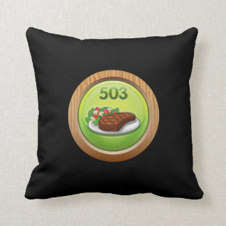 Glitch Achievement noted epicure Throw Pillow
