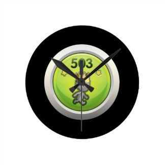 Glitch Achievement order of the manatee rampant.pn Wall Clocks