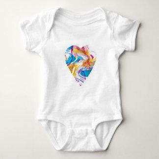 Glitch Art Heart Baby Bodysuit