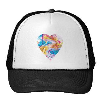 Glitch Art Heart Cap