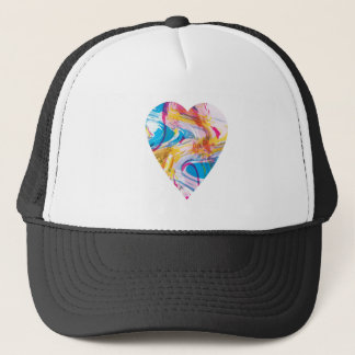 Glitch Art Heart Trucker Hat