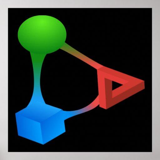 Glitch: compounds diabolic acid posters