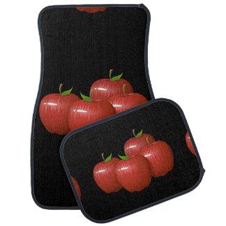 Glitch Food apple Car Mat