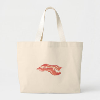 Glitch Food bacon Large Tote Bag