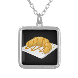 Glitch Food banana no names Silver Plated Necklace