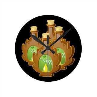 Glitch Food birch syrup Round Clock