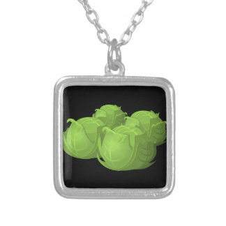 Glitch Food cabbage Silver Plated Necklace