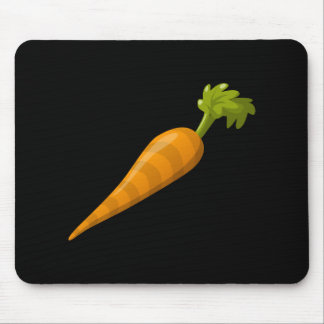 Glitch Food carrot Mouse Pad