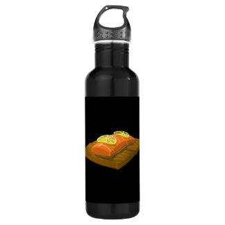 Glitch Food cedar plank salmon 710 Ml Water Bottle