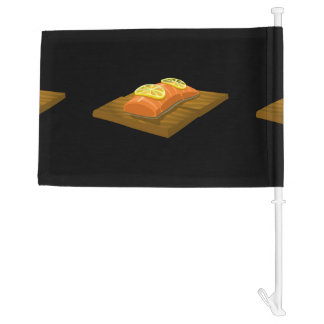 Glitch Food cedar plank salmon Car Flag
