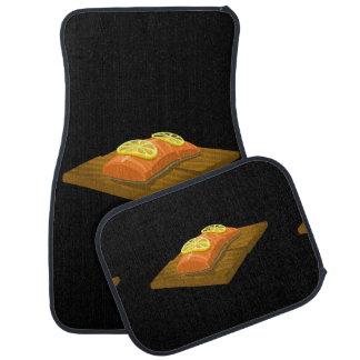Glitch Food cedar plank salmon Floor Mat