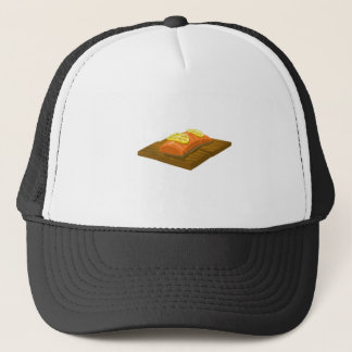 Glitch Food cedar plank salmon Trucker Hat