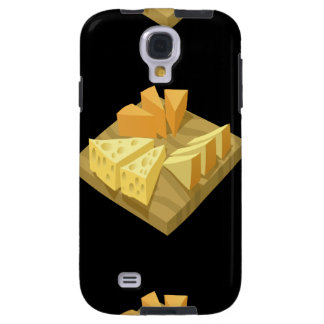 Glitch Food cheese plate Galaxy S4 Case
