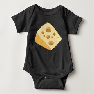 Glitch Food cheese stinky Baby Bodysuit