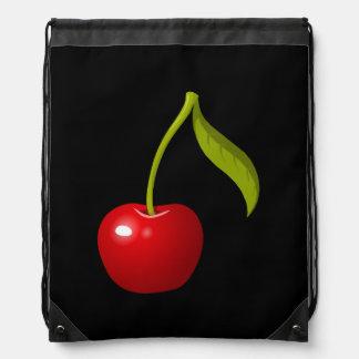 Glitch Food cherry Drawstring Bag