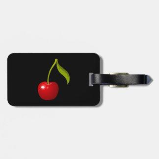 Glitch Food cherry Luggage Tag
