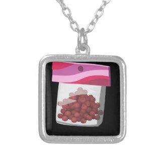 Glitch Food desssert rub Silver Plated Necklace