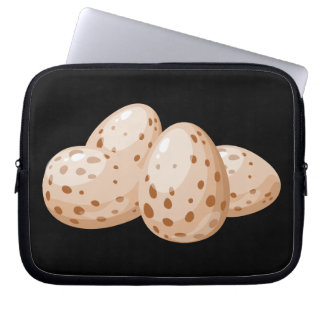 Glitch Food egg plain Laptop Sleeve