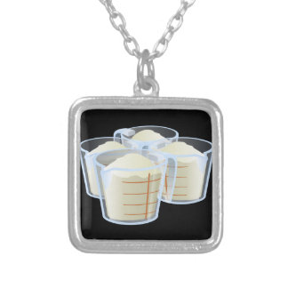 Glitch Food flour Silver Plated Necklace