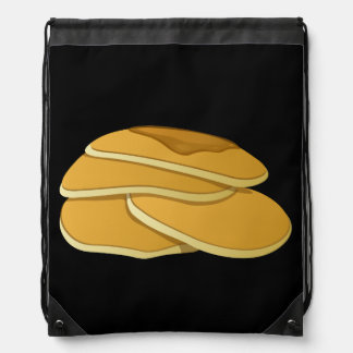 Glitch Food gammas pancakes Drawstring Bag