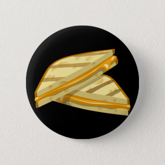 Glitch Food grilled cheese 6 Cm Round Badge